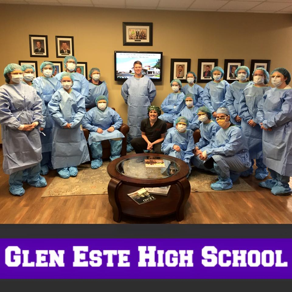 Glen McClung, M.D. with Staff. View Image